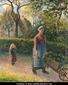 Femme la brouette - Camille Pissarro