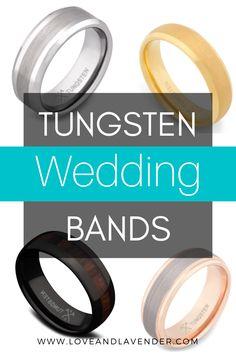 Tungsten Wedding Bands | Wedding Bands Men | Mens Tungsten Wedding Band | - Love & Lavender #weddingbands #mensweddingbands #tungstenmensrings #tungstenrings #rings Tungsten Wedding Bands, Unique