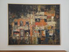 Mid Century Modern Abstract Oil Painting by Paul by ModandOzzie