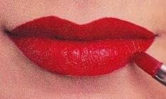 Authentic 1940s Makeup History and Tutorial. 1940s overdrawn red lips. Full on top and bottom.