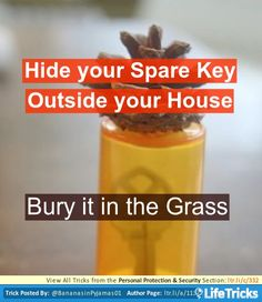 Clever Way to Hide your Spare Key Outside your House