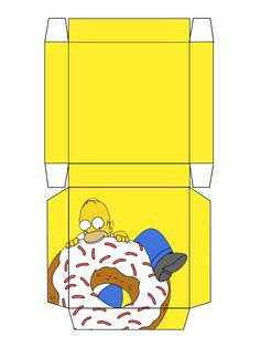"""The Simpsons """"Homer"""" Box .... free to use and free to share for personal use. <3"""