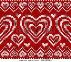 jacquard heart patterns - Cerca con Google
