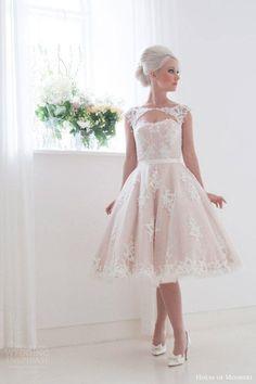 Short Wedding Dresses With Classic Style - House of Mooshki via Wedding Inspirasi