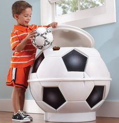 Storage And Ball Carts Hart Sport pertaining to measurements 1000 X 1000 Soccer Ball Storage Bin - Toy storage bins are helpful in a lot of ways. Boys Soccer Bedroom, Soccer Room, Soccer Baby, Boy Room, Kids Bedroom, Baby Boy, Football Rooms, Football Bedroom, Boys Bedroom Ideas 8 Year Old