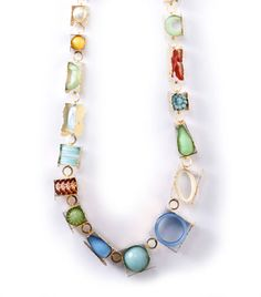 Helen Britton Necklace: 13N002 2013 Silver gold plated, plastic, paint