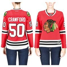 Corey Crawford Chicago Blackhawks Reebok Women's Premier Player Home Jersey - Red - $103.99