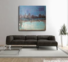 Large 36 x 36 Original Abstract Painting  by linneaheideart