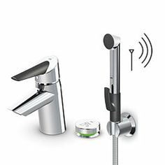 2715F Oras Optima - Single lever washbasin faucet with  thermostatic control unit, Smart Bidetta and Smart press pad.