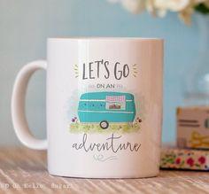 Unique Coffee Mug  Adventure Coffee Mug  by OhHelloSugarGifts