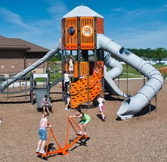Show your #SchoolSpirit by incorporating your mascot and school colors in your #playground design like this school in Versailles, Ohio.