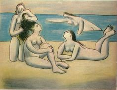Bathers  -  Pablo Picasso 1920  Pastel