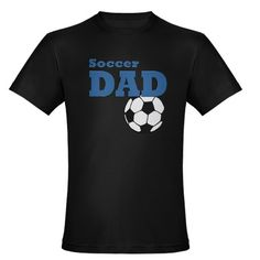 Soccer Dad: Organic Men's Fitted T-Shirt (dark)