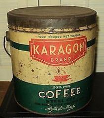 Photograph; KARAGON BRAND COFFEE COPYRIGHT © TRADEMARKED ™