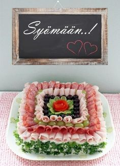 {image:text} Sandwich Cake, Sandwiches, Deli Tray, Tapas, Edible Crafts, Food Garnishes, Food Platters, Food Decoration, Russian Recipes