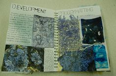 Flaminia Luck DHSFG Textiles Sketchbook Layout, Textiles Sketchbook, Gcse Art Sketchbook, Sketchbook Inspiration, Artist Research Page, A Level Textiles, Textiles Techniques, Textile Texture, A Level Art