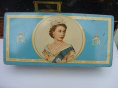 1953 blue coronation tin
