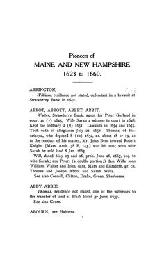 The pioneers of Maine and New Hampshire, 1623 t...