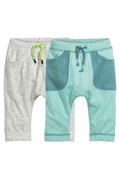 Pants in soft cotton jersey with an elasticized drawstring waistband and side pockets. H&m Online, Trousers, Pants, Fashion Online, Kids Fashion, Baby Boy, Children, Swimwear, Cotton