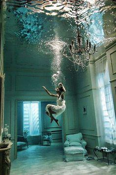 Underwater living room- photo by Phoebe Rudomino