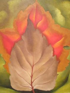 Georgia O'Keeffe Red and Brown Leaves 1925