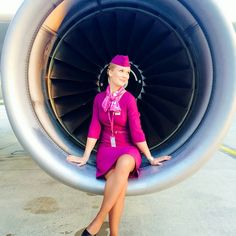 One of the Icelandic airline Wow Air Stewardesses who captured a gang of three hijackers. The four strong female crew talked the men into surrender, disarmed them and tied them up. They handed their prisoners over to police in Reykjavik in one of the most extraordinary acts of cabin crew bravery in airline history. @sifbachmann