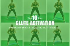 """Having a firmer, lifted backside is one of the ultimate aesthetic goals. And while having """"the butt"""" is a major plus of working out, most of us simply aren't activating our glutes to get that type of training effect. These 10 exercises will not only activ Home Exercise Program, Home Exercise Routines, Workout Programs, At Home Workouts, Body Workouts, Cardio Workouts, Tabata, Fitness Routines, Glute Activation Exercises"""