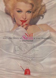 Nail Satin by Max Factor | Retro Makeup Ad