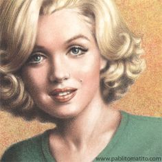 1997 - © Pablito Matito - Pastels and pencils on paper Drawing Artwork (Made in Italy) Marilyn Monroe Drawing, Marilyn Monroe Artwork, Drawing Stars, Movie Poster Art, Norma Jeane, Artist At Work, Old Hollywood, Caricature, American Actress