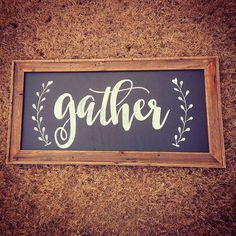 GATHER sign / Large Wall Art / Kitchen by mangoseedmarketplace