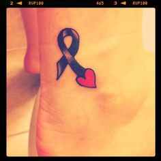 Melanoma skin cancer, this is the ribbon that represents the cancer my daddy died from. <3