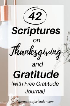 42 Bible Verses on Thanksgiving and Gratitude -