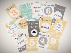 Milníkové karty pro miminko