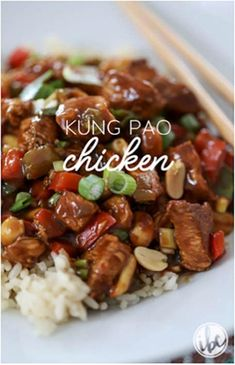 Kung Pao Chicken Recipe Easy, Easy Chicken Recipes, Kung Pao Beef Recipe, Side Recipes, Dinner Recipes, Almond Chicken, Orange Chicken, Braised Chicken, Cooking Recipes