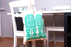 torba bawełniana, torba, kurpie, motyw kurpiowski, na ludowo, design, ludowe, folk, folklor