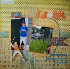 The title and the baseball player come from the Sports Mania Cricut Cartridge The circle base comes from the George and Basic Shapes cartridge The banner/flags come from the Lovely Floral cartridge