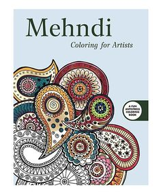 Skyhorse Publishing Mehndi Coloring For Artists Book