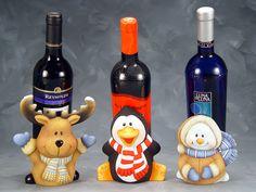 porcelana fria, masa flexible, polymer clay, Botellas decoradas