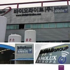 Amolux - Corpóreo para Fábricas en China y Corea