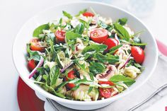 Risoni Salad with Tomatoes Basil and Rocket online order:Fruit Veg : fruit & Vegetable delivery:home delivery Raw Food Recipes, Salad Recipes, Vegetarian Recipes, Healthy Recipes, Easy Salads, Summer Salads, Risoni Salad, Orzo Salad, Rocket Recipes