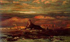 Elihu Vedder - The Sphinx of the Seashore, 1879-80