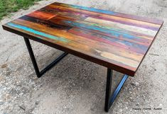 Custom+Reclaimed+Salvaged+Wood+Dining+Table+by+HappyHomeAustin,+$775.00