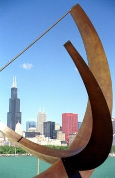 Chicago from the Adler Planetarium: Sundial in the foreground and the Sears/Willis Tower in background. Chicago Attractions, Chicago Hotels, Chicago City, Chicago Riverwalk, Chicago Illinois, Chicago Bears, Barack Obama, Places To Travel, Places To Visit