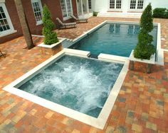 square pool spa