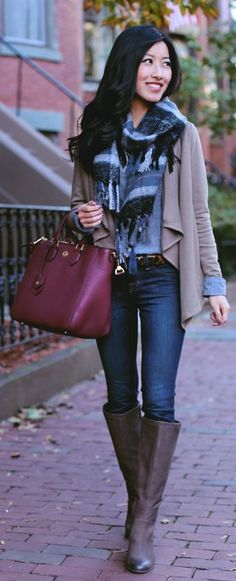 Fall Outfit Ideas - Brown Suede Knee-high Boots by Extra Petite