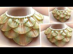Колье своими руками из косой бейки, Мк Лерита / diy necklace - YouTube
