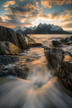 This is an image from Norway and more specifically the Lofoten Islands.. we had some amazing sunrises and sunsets and because the sun never gets higher then a few degrees at this time of the year sunrise/sunset lasted five hours.. pretty amazing place to photograph...