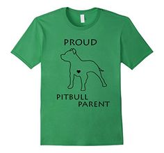 Proud Pitbull Parent T-shirt in Grass Green by FitFurFun - Sold on Amazon!