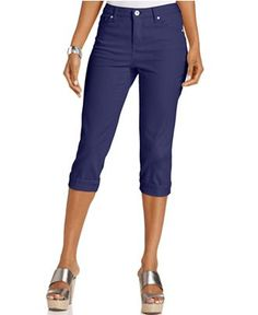 43b256f3 Tummy-Control Cuffed Capri Jeans & Reviews - Jeans - Women - Macy's