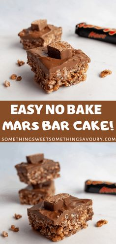 Mars Bar Crispy Cake is without a doubt a retro childrens party classic its ridiculously simple to make and absolutely no-one can resist it! Mars Bar Crispy Cake, Mars Bar Cake, Mars Bar Slice, Crispy Cake Recipes, Tray Bake Recipes, Sweet Recipes, Baking Recipes, Cookie Recipes, 13 Desserts
